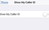 turn off show my caller id on iPhone x iphone 8 plus iPhone 7 Plus