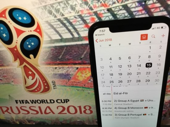 1 FIFA World Cup 2018 Schedule on iPhone