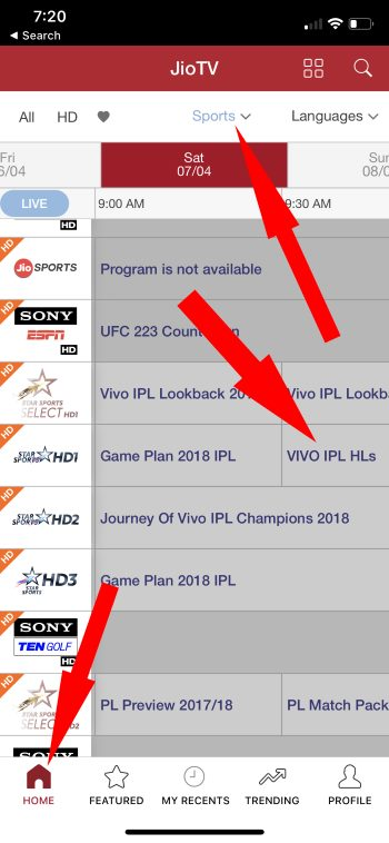 1 Watch Live IPL 2018 Highlights and Streaming on Jio TV App on iPhone and Android