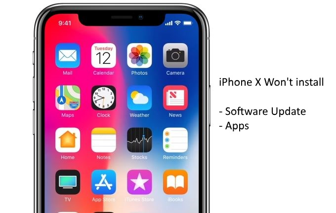 1 iPhone X won't install software update