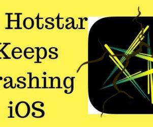 Fix Hotstar Keeps Crashing iOS