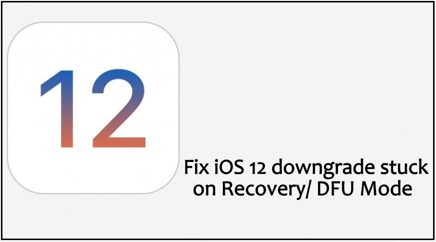 Fix iOS 12 downgrade stuck on Recovery DFU Mode