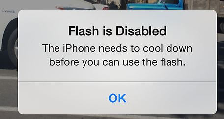Flash is disabled on iPhone X iPhone 8 and iPhone 8 Plus