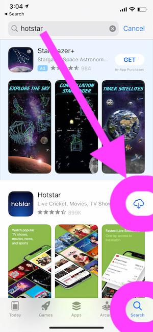 ReDownload Hotstart App on iPhone