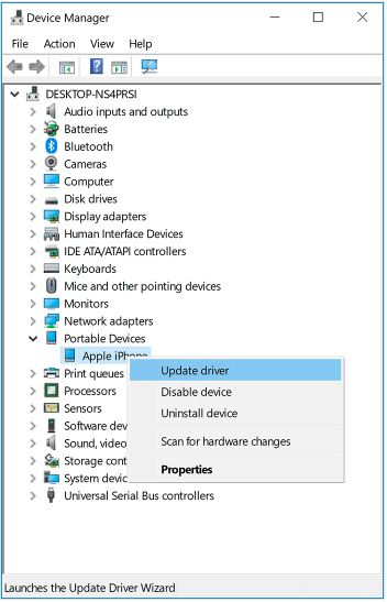 3 Update iPhone USB Driver on Windows 10