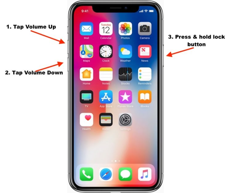 Force Restart iPhone X and later iPhone 8 Plus