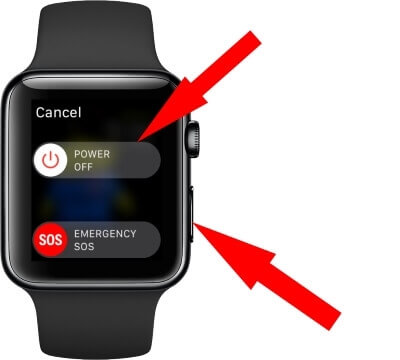How to turn off apple watch 4 when connection lost and stuck on update