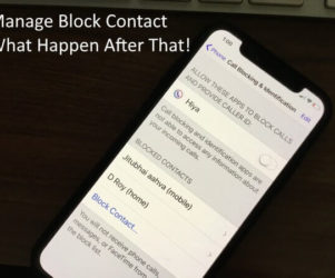 Manage Block Contact and What Happen after that (1)