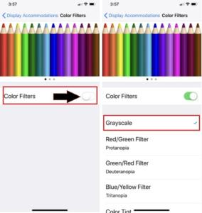 How to Turn ON Grayscale On iPhone X/ iPhone 8 Plus