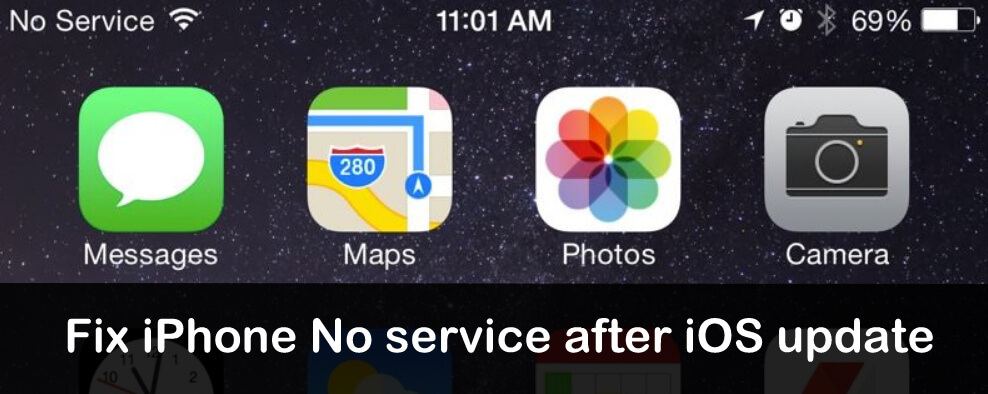 fix iPhone No service after iOS 12 update