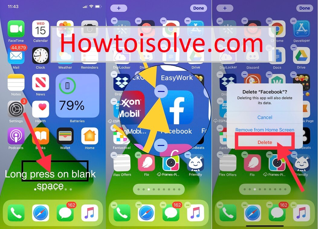 Ios 14 How To Delete Apps On Iphone 12pro Xr 11 Pro Max Xs X 8 7 Se