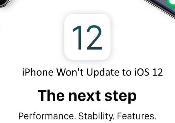 iPhone Won't update to iOS 12