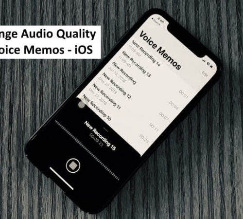 1 Change Audio Quality in Voice Memos App on iPhone in iOS 12