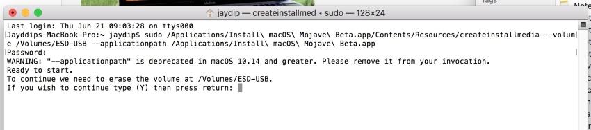 1 Create Bootable Pendrive of MacOS Mojave in MacOS High Sierra