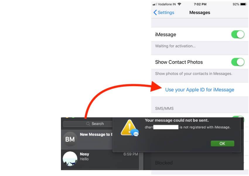 1 Enable iMessage on apple ID