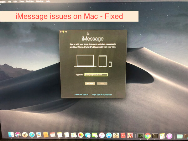 How to fix iMessage Not Working in macOS Mojave/ Catalina on