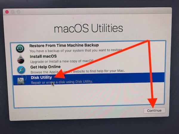 2 Дисковая утилита для чистой установки MacOS Mojave