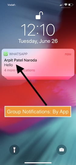 2 Group Notifications by App in iOS 12