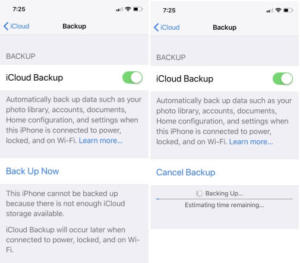 Last Backup Could Not be Completed iCloud iOS 12 after Update, Failed & Stopped issues