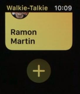 3 Add more people in Walkie talkie on apple watch