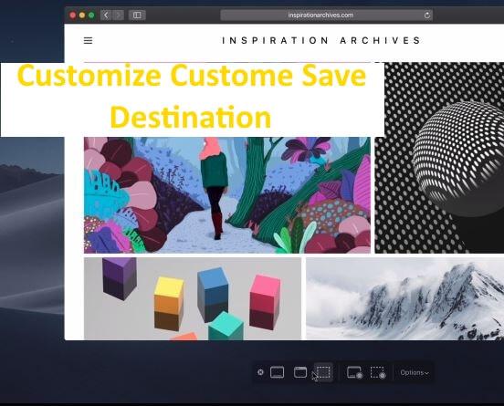 3 Change screenshot Save location on MacOS Mojave