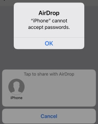 2 Share Safari Password from iPhone using Airdrop in iOS 12 (1)