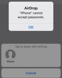 2 Поделитесь паролем Safari с iPhone с помощью Airdrop в iOS 12 (1)