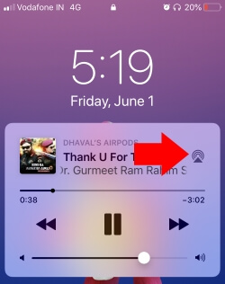 3 Open AirPlay 2 from lock screen music widget on iPhone and iPad