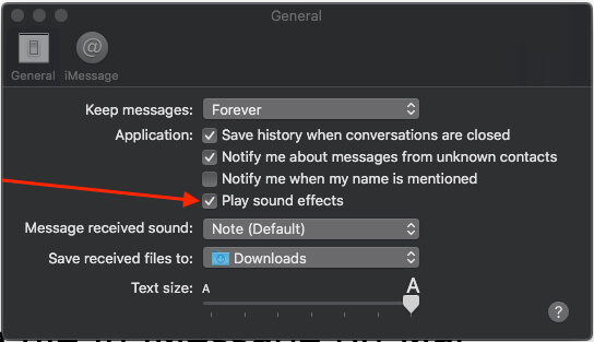 3 Play Sound Effect for incoming message on Mac