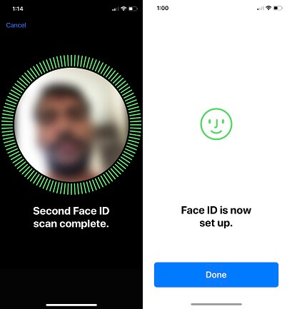 3 Scan Second Face on iPhone X in iOS 12