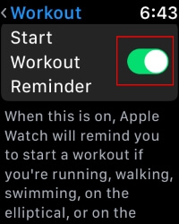3 Start Workout Reminder on Apple Watch