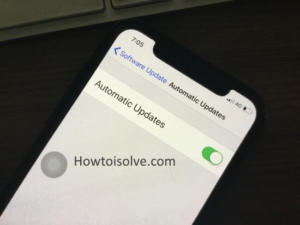 Disable/Enable Automatic Software Update in iOS 12 on iPhone X, 8 Plus, 7/7 Plus