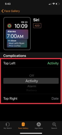 4 Change Complications on Apple Watch in WatchOS 5
