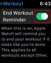 4 End Workout Reminder on Apple Watch
