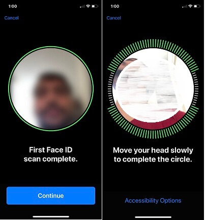 4 Scan Multiple Face with Face ID on iOS 12