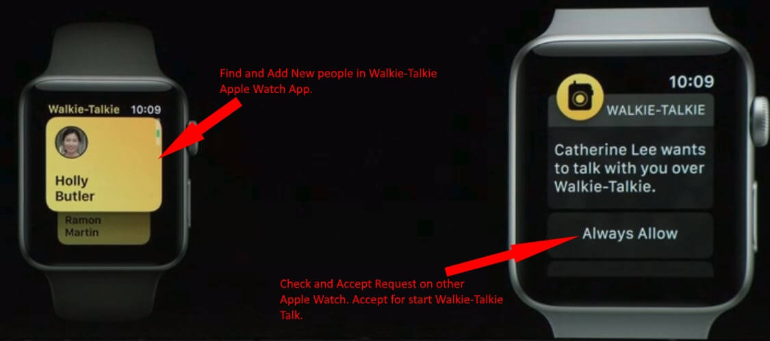 5 Receive Walkie Talkie Notification on apple watch