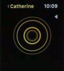 8 Слушайте звуковое сообщение в приложении для Apple Watch Walkie Talkie под управлением WatchOS 5 или более поздней версии