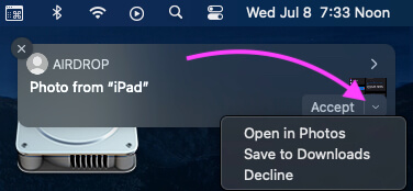 Accept AirDrop on Your Mac that is send from Other Apple Device