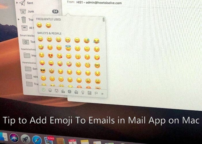 Add Emoji To Emails in Mail App on MacBook Pro Air iMac in macOS Mojave