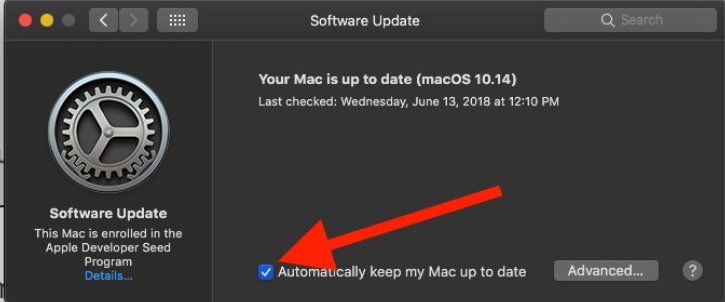 Automatically keep my Mac up to date macos mojave system preferences