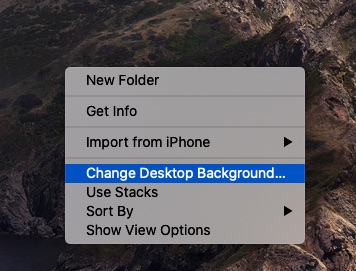 Change Desktop Background on Mac