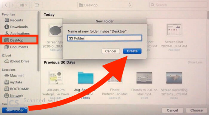 Create a Folder for Save new Screenshot on Macbook Mac