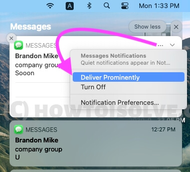 Deliver Prominently on macOS Notifications