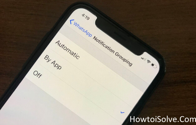 Enable Notification Grouping in iOS 12 on iPhone X iPhone 8 Plus