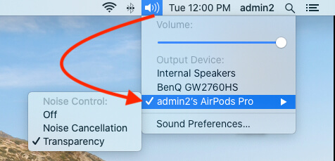 Enable Output Audio device on Mac