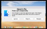 Fix Finder Quit Unexpectedly on Mac Mojave