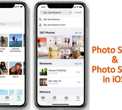 Photo Sharing and photo search in ioS 12