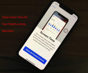 Setup Kids screen time on iPhone in iOS 12