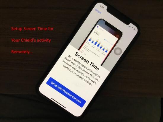 Setup Kids screen time on iPhone in iOS 12