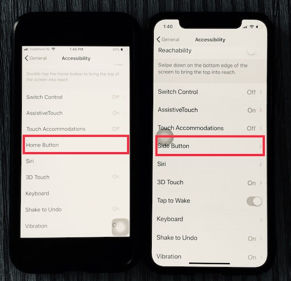 Side Button Settings for Siri on iPhone